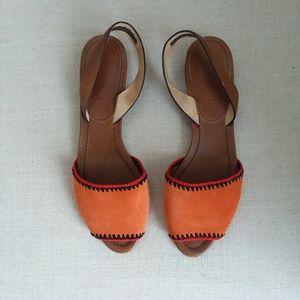 Prada slip-on flat suede sandals